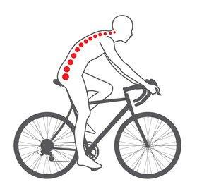 Pozycja na rowerze z zaokrąglonym grzbietem