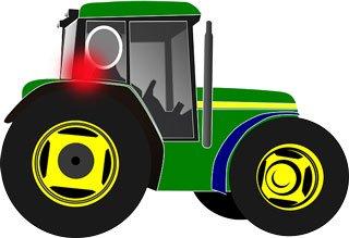 Ból pleców, a traktor