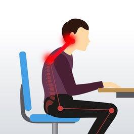 Ból z tyłu głowy przy siedzeniu przy koputerze