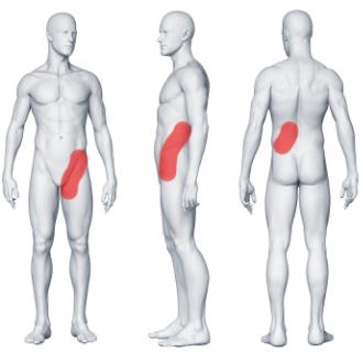 Kolka nerkowa ból pleców na dole