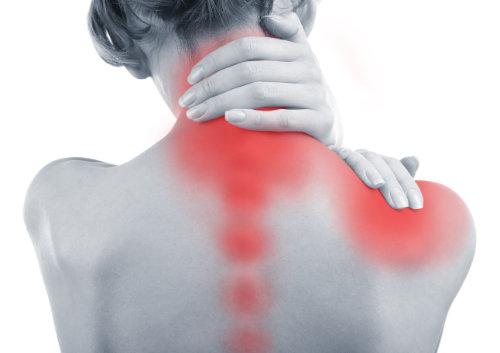 Ból pleców kręgosłupa szyjnego