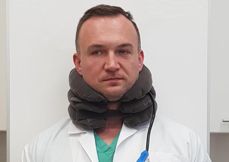 dmuchany kołnierz na kark - opinia lekarza